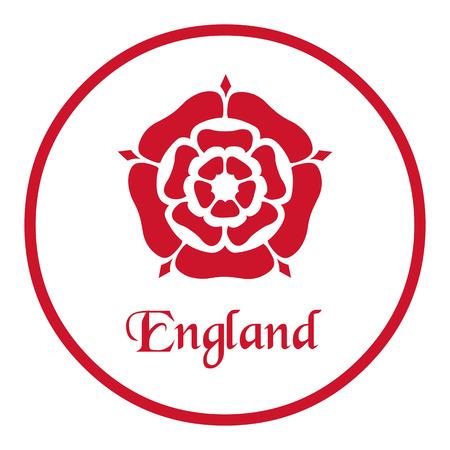 England emblem with the Tudor Rose on white