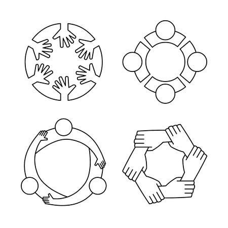 Friendship circle icons