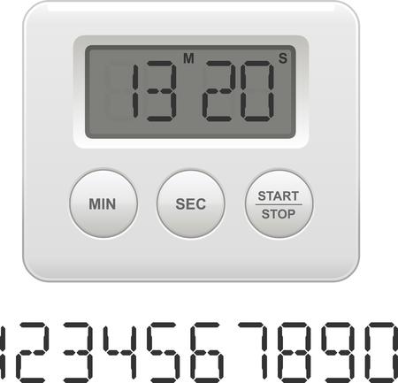 Vector illustration of a digital kitchen timer 向量圖像