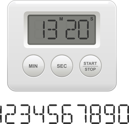 Vector   Vector Illustration Of A Digital Kitchen Timer