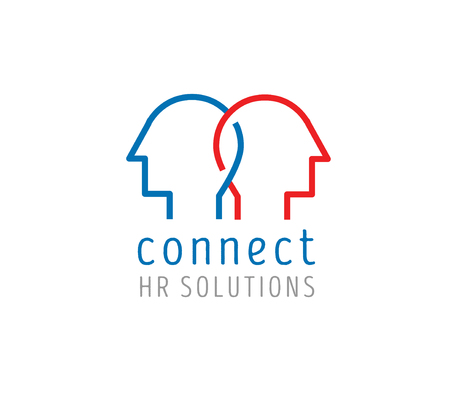 Human resources vector logo. Concept for connect people, support service, human relations, social service.