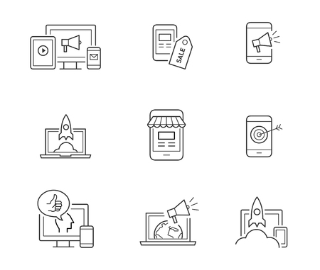 Digital marketing icons 向量圖像