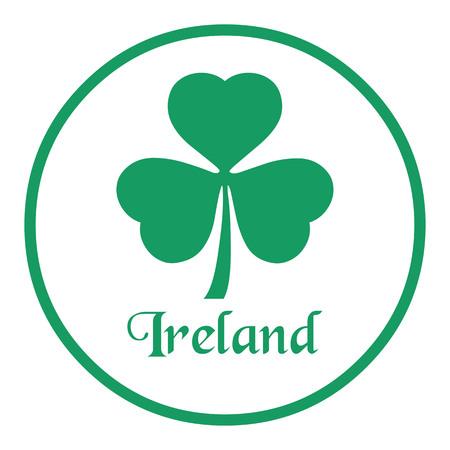 Floral emblem of Ireland, Shamrock 向量圖像
