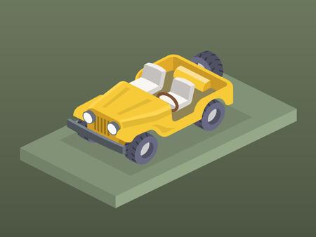 Isometric 4x4 car 向量圖像