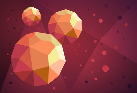 Abstract background with geometrical shapes made of triangular faces.