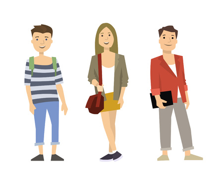 Casual character people illustration