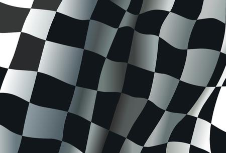 Checkered motor race flag vector background