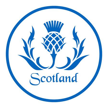 スコットランドのアザミの花の紋章