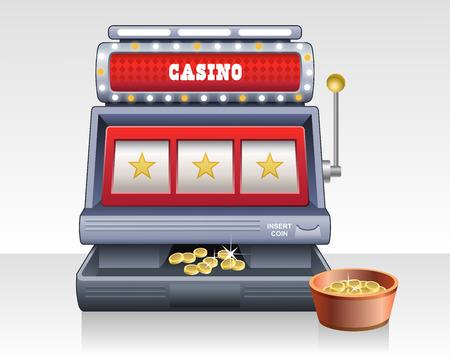 Vector slot machine 向量圖像