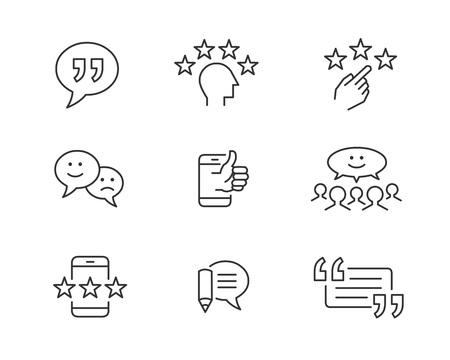 Customer feedback and testimonial icons 版權商用圖片 - 97902229