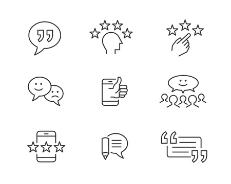 Customer feedback and testimonial icons