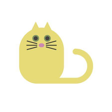 Yellow funny cat icon