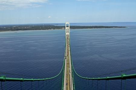 mackinac: Mackinac Bridge from the top