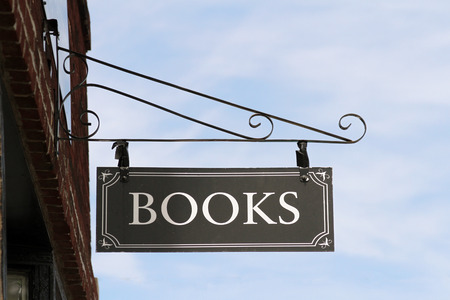 Books sign on a storefront