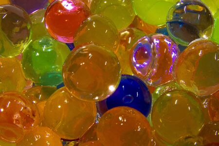 Close-up shiny and colourful water beads picture