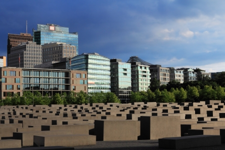 Memorial to the Murdered Jews of Europe in the center of Berlin
