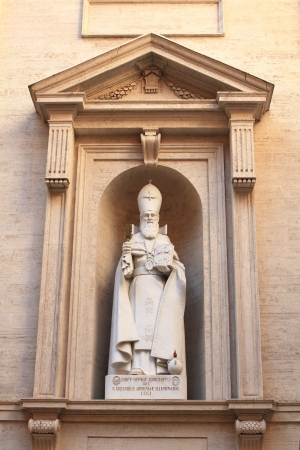 illuminator: s. gregorius  armeniae illuminator statue in the wall of Cathedral of St. Peter in the Vatican Stock Photo