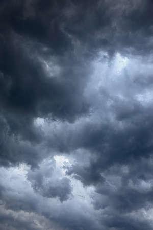 vertical hi contrast texture of dense cumulo clouds Stock Photo