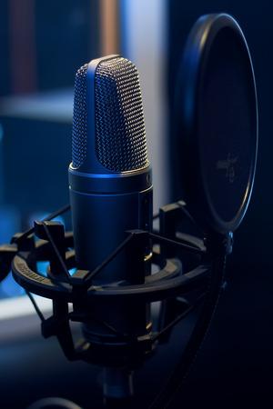 Microphone in a recording studio music audio photo