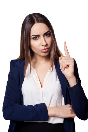 strict: Portrait of a very strict manager background, woman, business, person, girl
