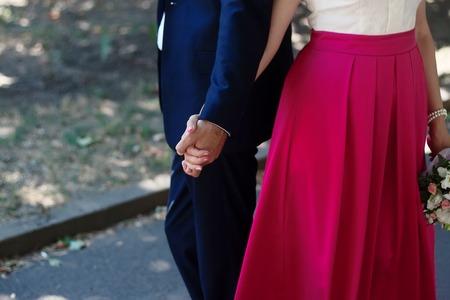 walking away: Couple Holding Hands Walking Away