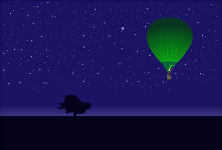 runaway: Vuelo de un globo. Vector. Sin malla.
