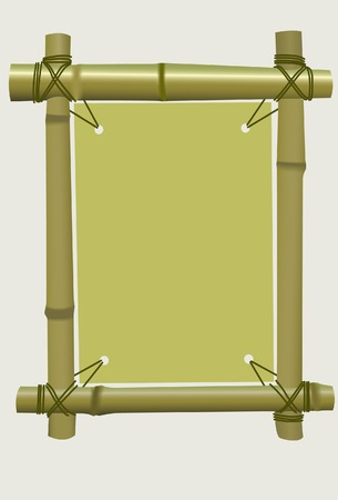 Framework from a bamboo. Vector. Without mesh.