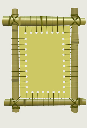 Framework from a bamboo. Vector. Without mesh. Vector