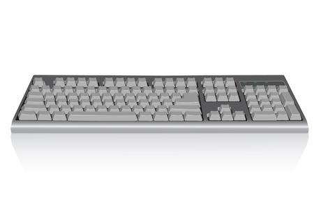 ergonomie: Keyboard Abbildung. Vector. Ohne Mesh.