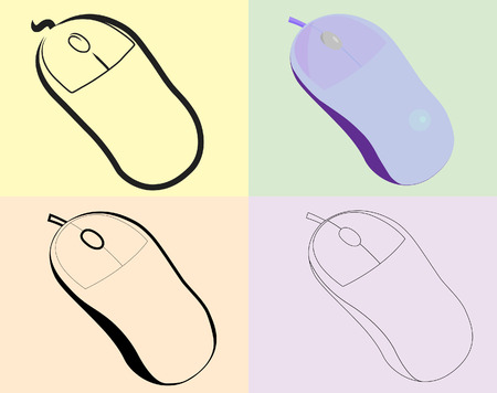 ergonomics: The optical mouse of a various kind.Vector.Without mesh.