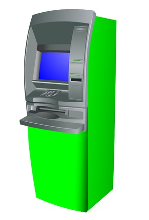 dispense: Cash dispensar. Vector. Sin malla.