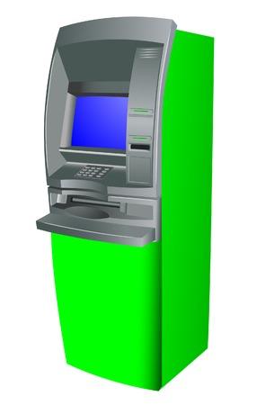 cash dispense: Cash dispense. Vector. Without mesh. Illustration
