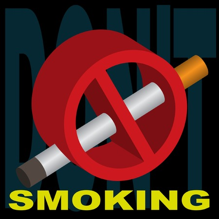 Sign forbidding smoking. Vector. Without mesh. Vector