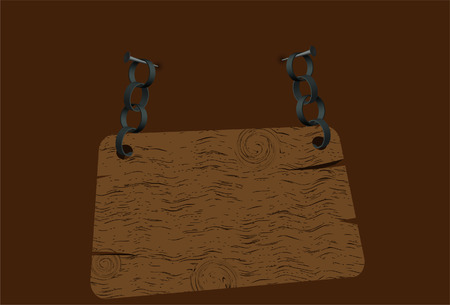 wooden tablet. Vector. Without mesh. Vector