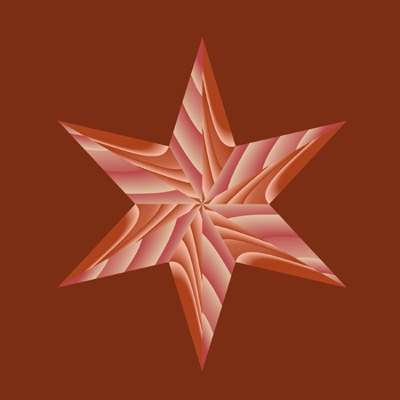 Wooden star. Parquet element. Vector. Without mesh. Vector