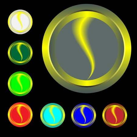 Buttons with a lightning and a board. Vector. Without mesh. Vector