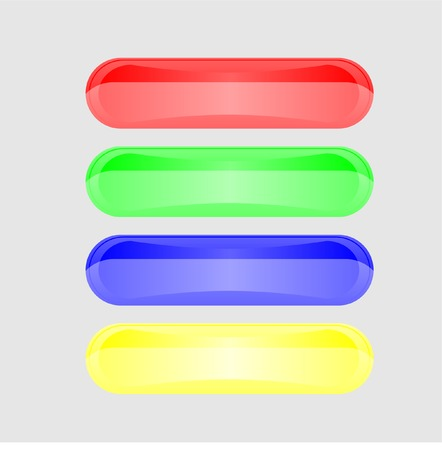 Four multi-coloured volume buttons. Vector. Without mesh. Vector