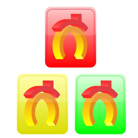 Three volume buttons with the house image. vector. without mesh. Stock Vector - 4767924