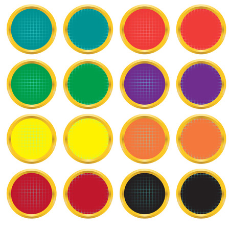 Set of buttons with a gradient grid. Vector. Without mesh. Vector
