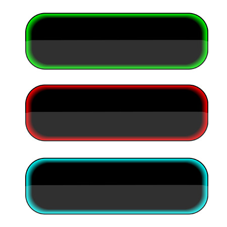 Three multi-coloured buttons. A vector. Without mesh. Vector