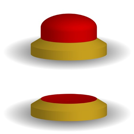Two red volume buttons. Vector. Without mesh. Vector