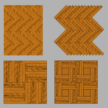 Seamless wooden parquet. Vector.Without mesh. Vector