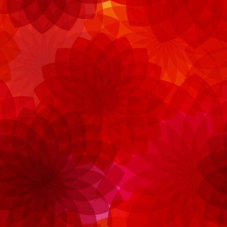 Seamless background with red flowers. A vector. Without  mesh.   Иллюстрация