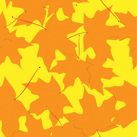 Yellow leaves. Seamless. Vector. Without mesh. Vector