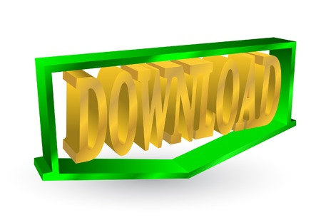 Volume symbol of download. A vector. Without mesh. Stock Vector - 4958625