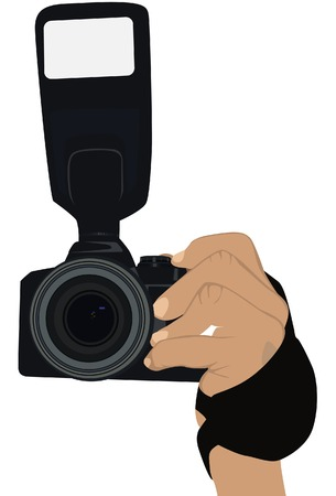 paparazzi:  To hold the camera. A vector. Without mesh.