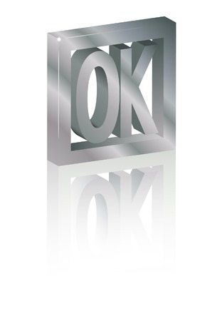 ok symbol: The ok symbol. A vector. Without mesh.
