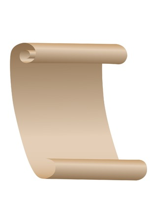 The Paper roll. A vector. Without mesh. Vector