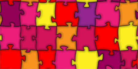 Multicoloured puzzle. A vector. Seamless. Without mesh. Stock Vector - 4958638