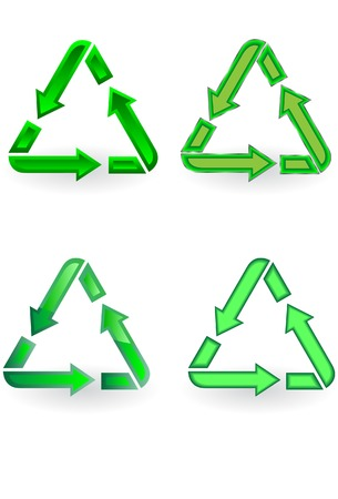 The recycle symbol. A vector. Without mesh. Vector